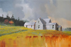 Edge Of The Field oil on canvas by Paul Stone