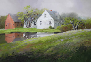 Homestead oil on canvas by Paul Stone art