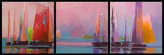 Incandescent 3 panel triptecy in oil by Paul Stone art