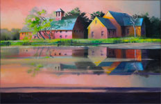 Late Afternoon Reflection oil on canvas by Paul Stone