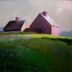 September By Barn Light by Paul Stone