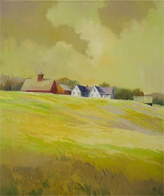Vermont Farm in Yellow by Paul Stone Art