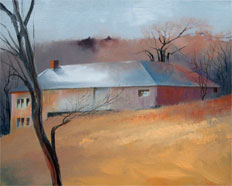 Work Shed oil on canvas by Paul Stone